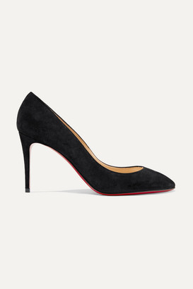 Christian Louboutin Eloise 85 Suede Pumps - Black