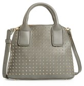 Sole Society Amalia Studded Dome Faux Leather Satchel - Grey
