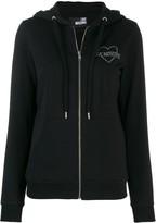 Love Moschino zip front logo hoodie