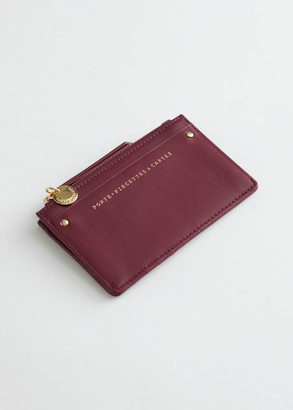 And other stories Smooth Leather Card Zip Wallet