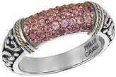 Phillip Gavriel 18k Gold & Sterling Silver Sapphire Signet Ring, Size 7