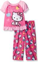 "Hello Kitty Little Girls' Toddler ""Say Hello"" 2-Piece Pajamas"