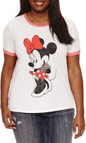 Freeze Short Sleeve Crew Neck Minnie Mouse Graphic T-Shirt