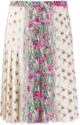 Giambattista Valli Silk Floral Print Skirt