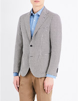 United Arrows Houndstooth cotton and silk-blend jacket