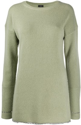 Joseph Metallic-Thread Extended-Cuff Sweater