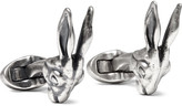 Mulberry Rabbit Burnished Silver-Tone Cufflinks