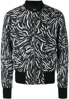 Versus brushstroke print bomber jacket - men - Silk/Cotton/Spandex/Elastane/Viscose - 48