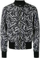 Versus brushstroke print bomber jacket - men - Silk/Viscose/Spandex/Elastane/Cupro - 48