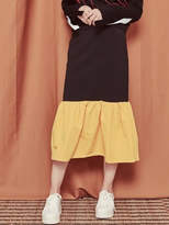 Blank Color Long Skirt-Yl