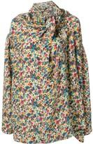 Balenciaga floral draped shirt