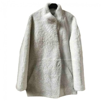 Sprung Frères Sprung Freres White Shearling Coat for Women