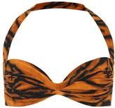 Thumbnail for your product : Norma Kamali Exclusive to Mytheresa a Bill tiger-print bikini top