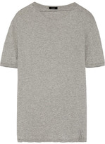 Bassike Cutout Organic Cotton-jersey T-shirt - Gray
