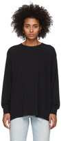 Alexander Wang Black Tilted Pocket Long Sleeve T-Shirt