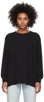 Alexander Wang Black Tilted Pocket Long Sleeve T-Shirt