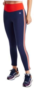 Champion Women's Double Dry Striped High-Waist Leggings