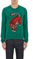 Gucci Men's Tiger-Intarsia Wool Sweater