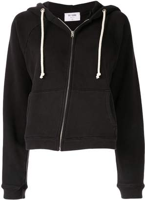 RE/DONE asymmetric zipped hoodie