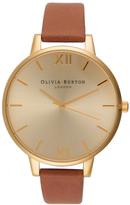 Olivia Burton Women's Big Dial Watch Tan/Gold