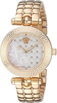 Versace Women's VQM120016 Vanitas Micro Analog Display Swiss Quartz Gold Watch