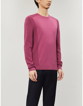Ted Baker Textured knit crewneck jumper