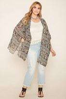 Forever 21 FOREVER 21+ Plus Size Paisley Kimono