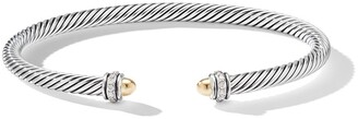 David Yurman 18kt Gold Diamond Cable Bangle