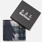 Barbour Women's Scarf and Gloves Set A Navy