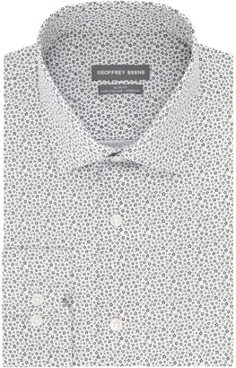 Geoffrey Beene Men's Extra-Slim Fit Stretch Flex Spread-Collar Dress Shirt