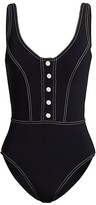 Thumbnail for your product : Karla Colletto Swim Lyra Button Front One-Piece Swimsuit