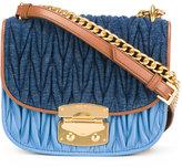 Miu Miu matelassé satchel bag - women - Cotton/Calf Leather - One Size