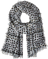 Marc by Marc Jacobs Painted Dot Gingham Scarf