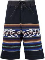 Sacai striped shorts