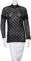 Kenzo Long Sleeve Crocheted Top