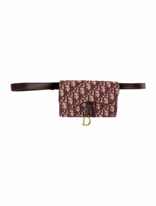 Christian Dior 2019 Oblique Saddle Belt Bag Brass