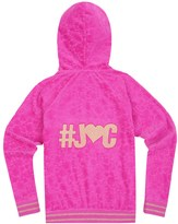 Juicy Couture Girls Fashion Track Castle Hill Jacquard Velour Jacket