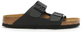 Birkenstock Arizona Birko-Flor Black Two Bar Mules