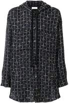 Faith Connexion tweed hooded coat