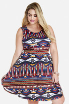 Fashion to Figure Gemma Printed Fit-and-Flare Dress
