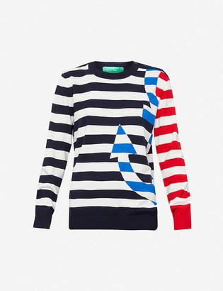 Benetton Striped cotton-knit jumper