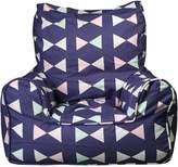 Lelbys Bowtie Kids Bean Chair Cover, Navy/pink/mint