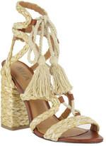 Mia Women's Gigi Lace Up Tassel Sandal