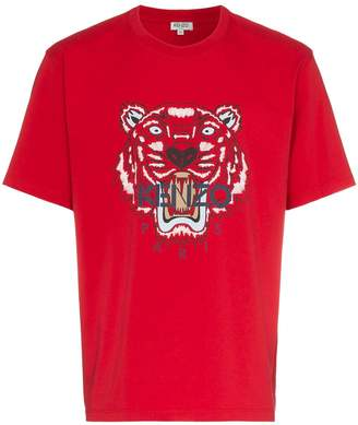 Kenzo Tiger Embroidered Logo T-Shirt