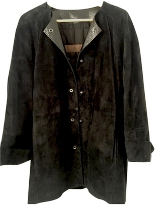 Loewe Black Suede Coats