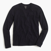 J.Crew Long-sleeve textured cotton T-shirt