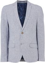 Linea Men's Mayfair Puppytooth Linen Blazer