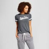 Xhilaration Women's Sleep Good Vibes T-Shirt Gray