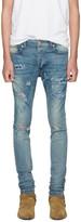 Rhude SSENSE Exclusive Blue Boxer Jeans