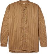 Kapital - Grandad-collar Striped Cotton Oxford Shirt